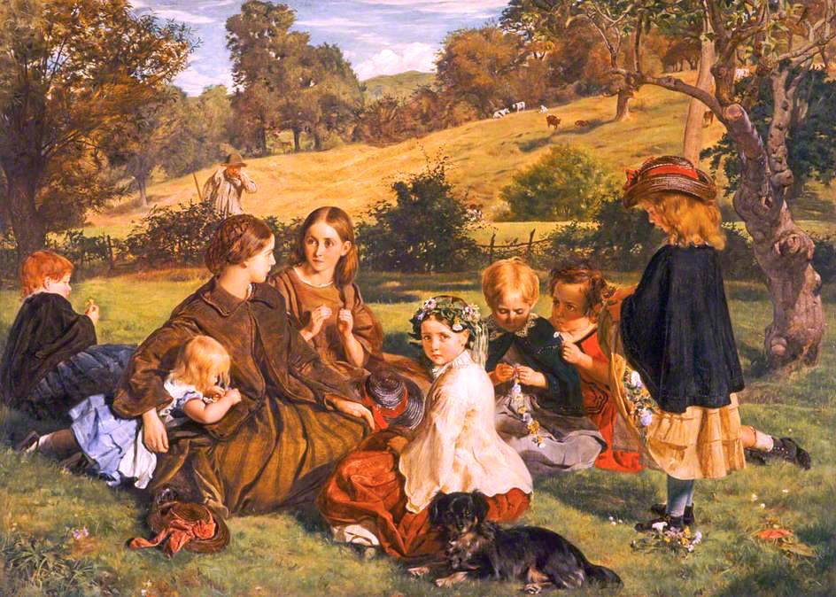 1860 Summertime Gloucestershire oiil on canvas 0764x1060m National Gallery of Scotland